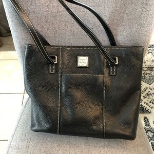 Dooney and Bourke black leather shoulder bag.